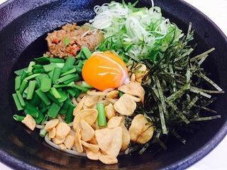 玄米麺の台湾まぜ麺