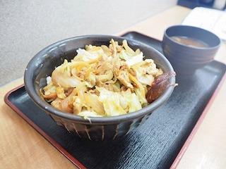 ピリ辛鶏ちゃん丼